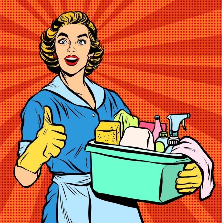 quality-home-cleaning-pop-art-retro-housewife-vector-9729509
